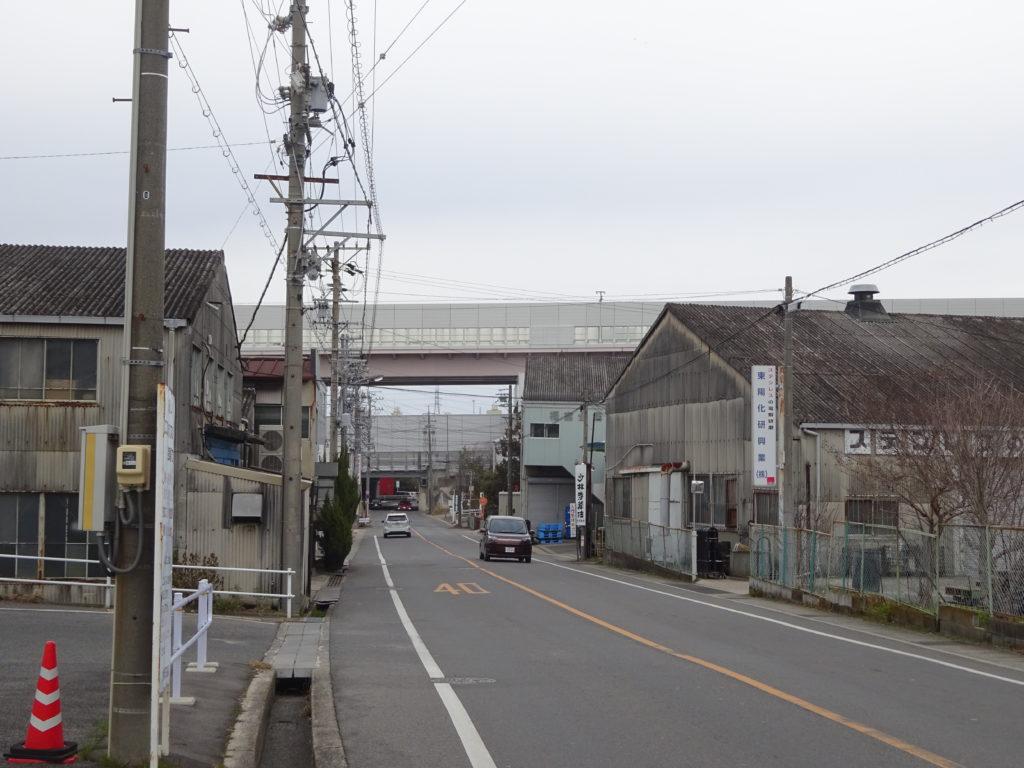 有松町高速道路と国道