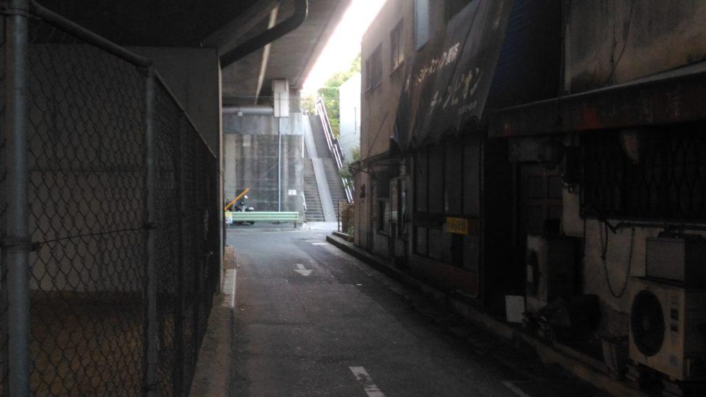 黄金橋の橋下