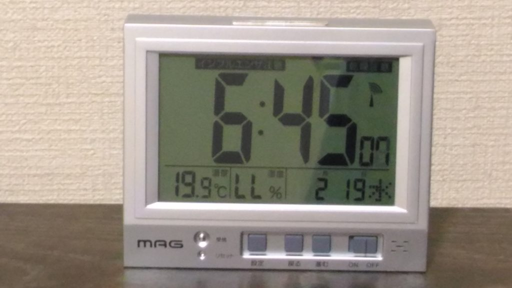 部屋の気温、湿度