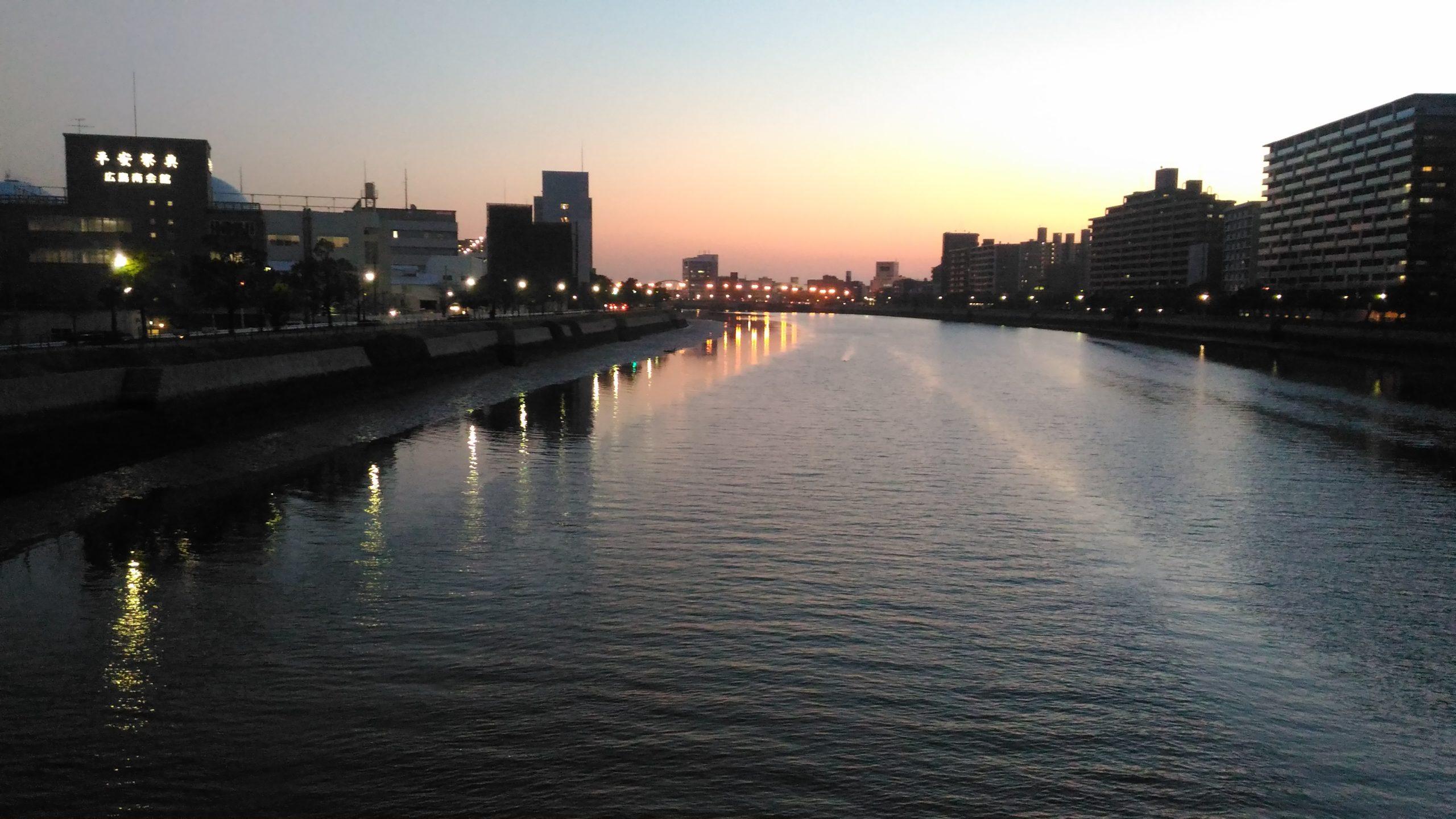夕方の平野橋