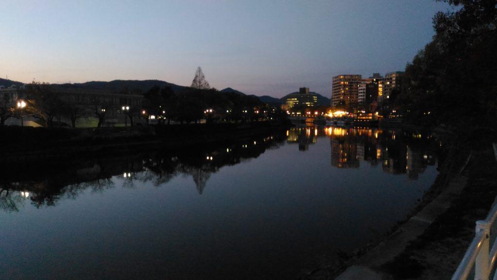 平和大橋より元安川上流