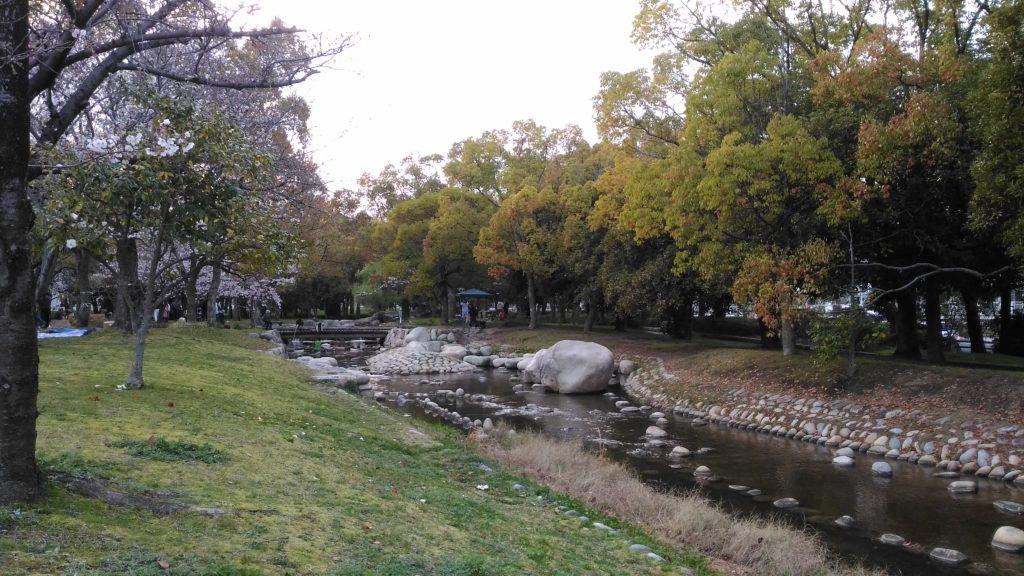 広島中央公園小川