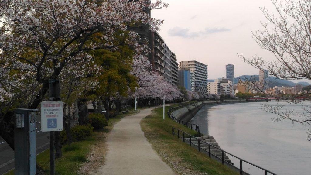 京橋川沿い平野町