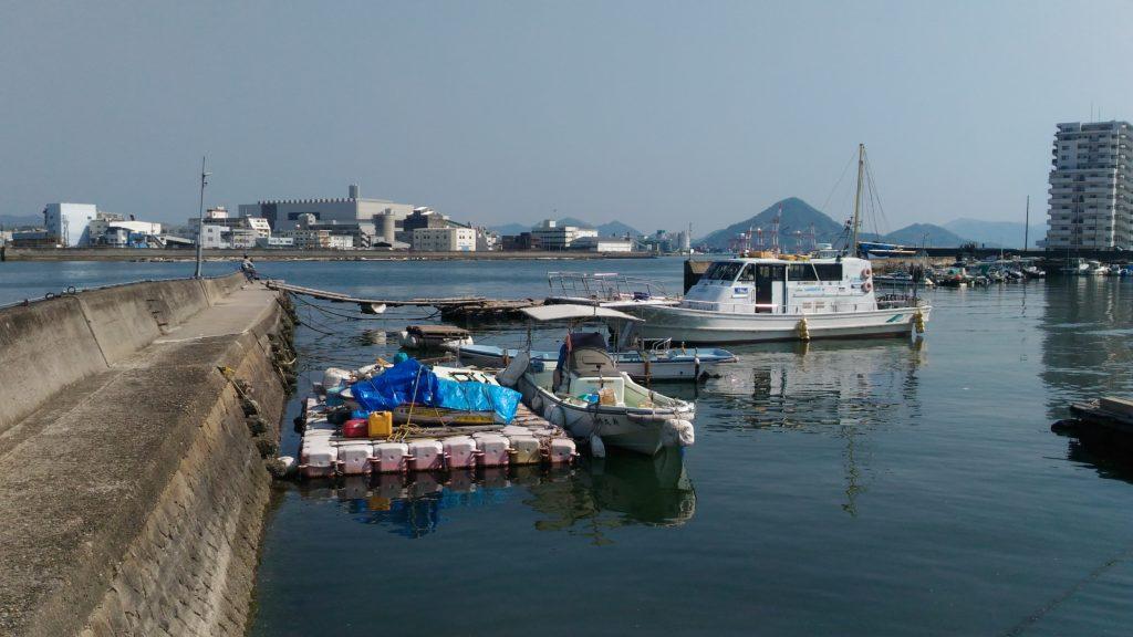 本川河口眺め