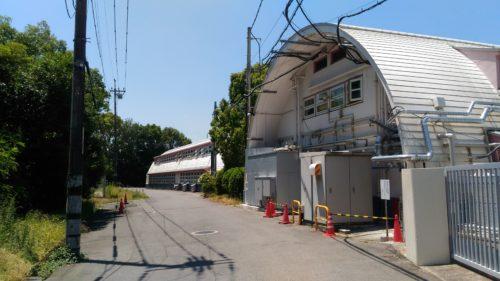 放射線影響研究所裏側