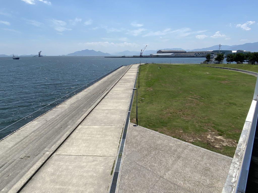 デッキより吉島釣り公園