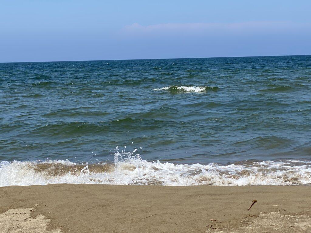 内灘海岸 波打ち際