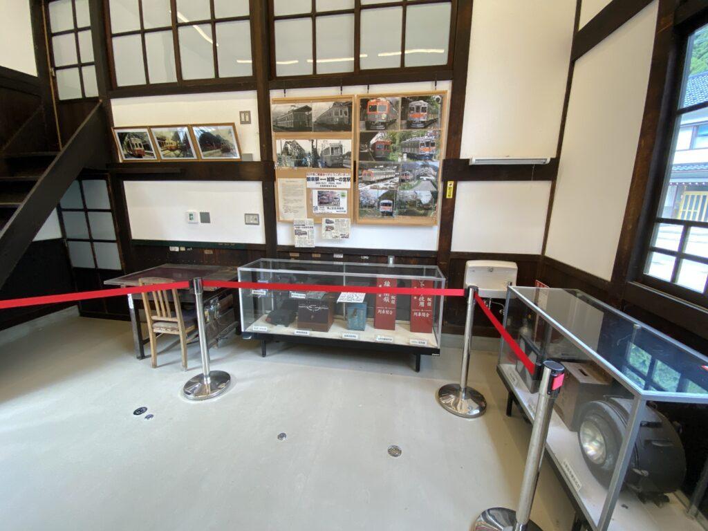 加賀一の宮駅 駅舎時代の展示