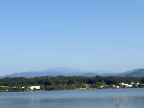 木場潟西側より白山連峰