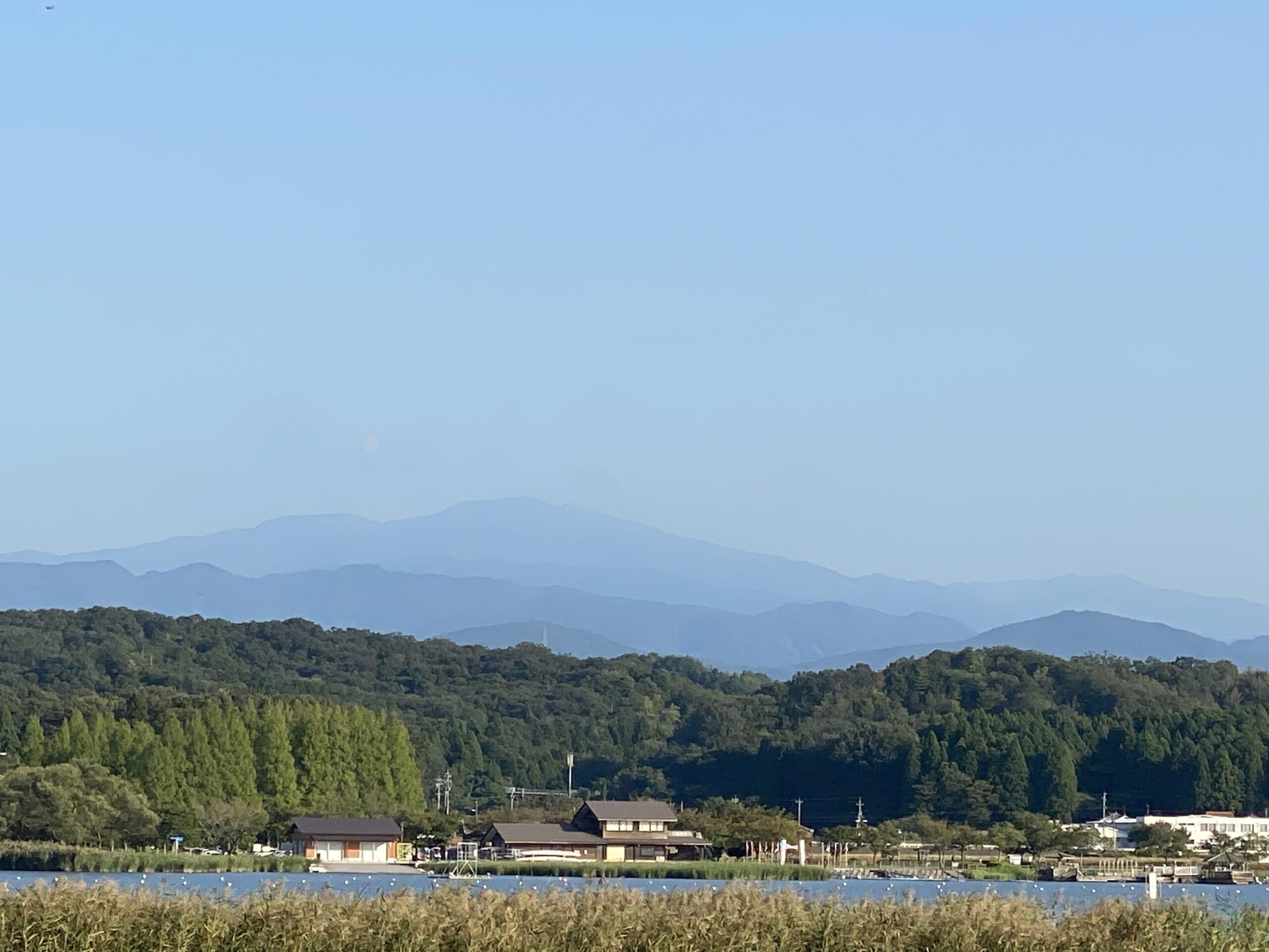 木場潟 白山連峰